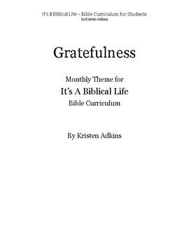 It's A Biblical Life Gratefulness