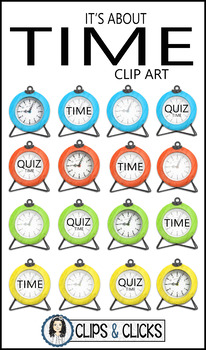 It's About Time: Clock Clip Art / STOCK Photos for Personal or Commercial Use