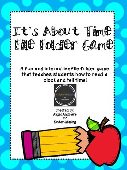 It's About Time File Folder Game