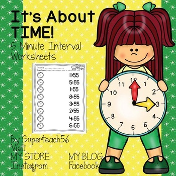 It's About Time Worksheet Set
