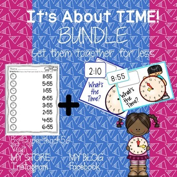 It's About Time Worksheet and Task Card BUNDLE