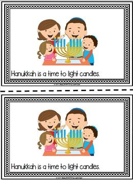 It's Hanukkah Time!:  Hanukkah Emergent Reader Book AND Interactive Activities