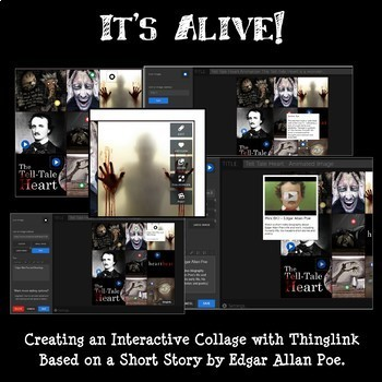 It's Alive! Edgar Allan Poe Thinglink Tech Project: Use with ANY Short Story