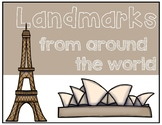 It's All About Landmarks / Landmarks from Around the World - Study Guide
