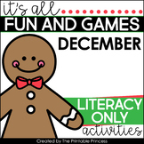 Gingerbread Literacy Centers for Kindergarten