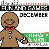 Gingerbread Math & Literacy Activities for Kindergarten