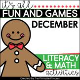 Gingerbread Math & Literacy Activities for Kindergarten