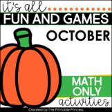 It's All Fun & Games {Fall Themed Activities for Kindergarten} MATH ONLY