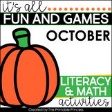 Fall Activities {Math & Literacy for Kindergarten}