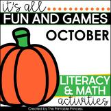 Fall Activities Math & Literacy for Kindergarten
