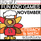 Thanksgiving Activities and Partner Games for Kindergarten