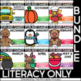 Literacy Games for Kindergarten | Year Long Literacy Centers BUNDLE