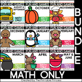 Math Games for Kindergarten | Year Long Math Centers BUNDLE