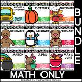Math Games for Kindergarten | Year Long Math Centers BUNDLE