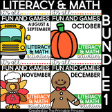 Literacy and Math Centers and Games for Kindergarten | Bundle #1