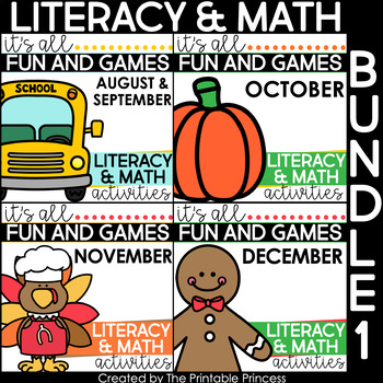 It's All Fun and Games  {Math & Literacy Activities}: Aug/