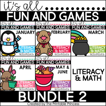 It's All Fun and Games {Math & Literacy Activities}: Jan-May  BUNDLE #2