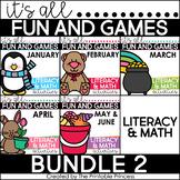 Kindergarten Literacy & Math Games BUNDLE Includes Winter