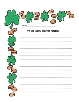 It's All Green March Creative Writing Activity