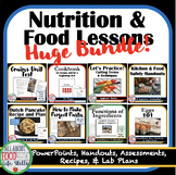 Food, Nutrition, and Cooking Lessons and Resources Bundle