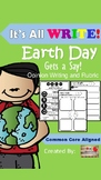 It's All WRITE: Earth Day Gets a Say! Opinion Writing and Rubric