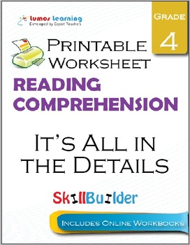 It's All in the Details Printable Worksheet, Grade 4