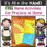 Name Activity | Kindergarten Letter Identification Free In