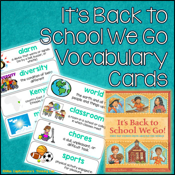 It's Back to School We Go! Vocabulary Cards (Unit 2 Module B ReadyGen Grade 1)