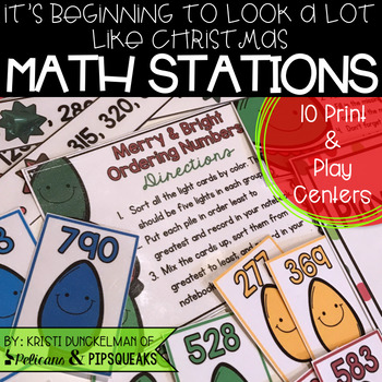 It's Beginning to Look Like Christmas Print & Play Math Stations