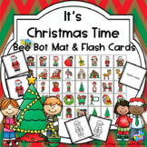 It's Christmas Time Bee Bot Mat and Flash Cards