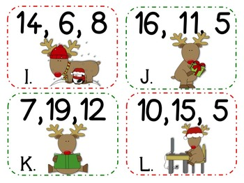 It's Christmas Time! Math Centers