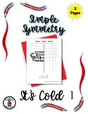 It's Cold (1) - Simple Symmetry - Draw Color Trace - 5 pag