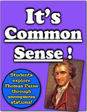 It's Common Sense!  Students examine Thomas Paine through anonymous groups!