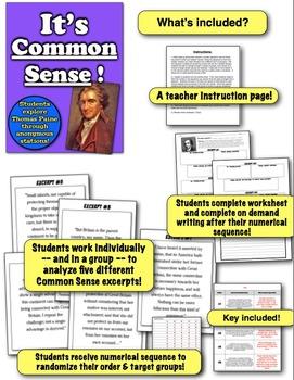 It's Common Sense! Students examine Thomas Paine through ...
