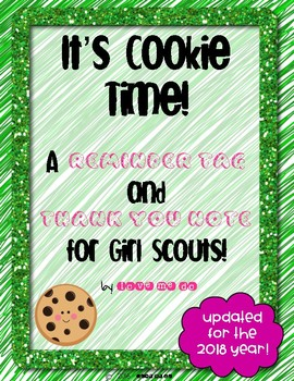 It's Cookie Time: A Reminder Tag and Thank You Note for Gi