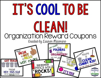 It's Cool to Be Clean: Personal Organization Reward Coupons