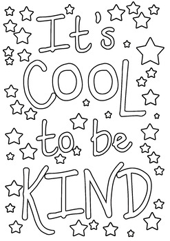 It's Cool to be Kind colouring in / book cover by Is it ...