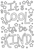 It's Cool to be Kind colouring in / book cover