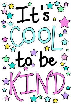 It's Cool to be Kind poster / visual