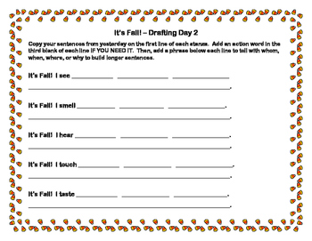 It's Fall! A Sensory Writing Poem
