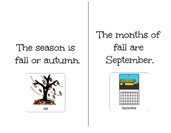 It's Fall-Adapted Book For Students With Disabilities