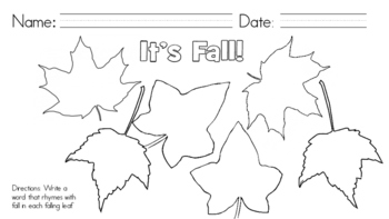 It's Fall! Let's Rhyme!