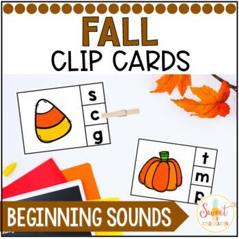 Fall Beginning Sounds Clip It