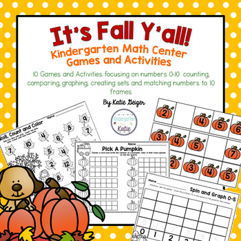 It's Fall Y'all Math Tub Games and Activities