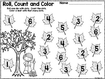 It's Fall Y'all Kindergarten Math Center Games and Activities