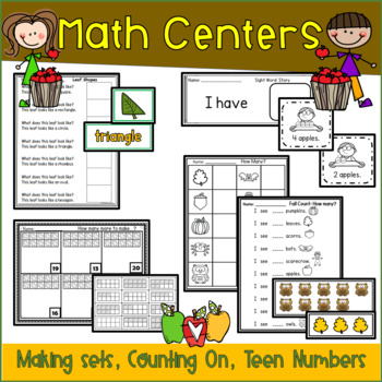 It's Fall: Y'all Math and Literacy Unit: Leaves, Pumpkins and More
