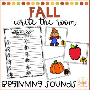 Fall Write the Room- Beginning Sounds