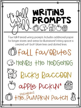It's Fall Y'all Writing Prompts