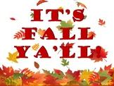 It's Fall Ya'll! Poster