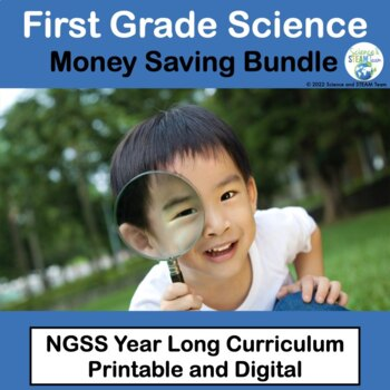 First Grade NGSS:  Bundle of Science Units for the Whole Year!